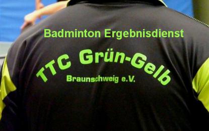 Unser Badmintonteam spielt 4:4 gegen Stöckheim 1