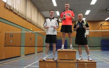 Björn gewinnt die Einzelmeisterschaft unserer Badminton Spielgemeinschaft