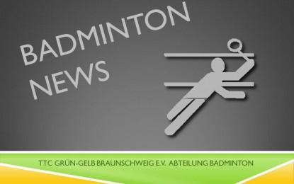 Badminton: Saisonabschluss am 02. Juli / Training in den Sommerferien