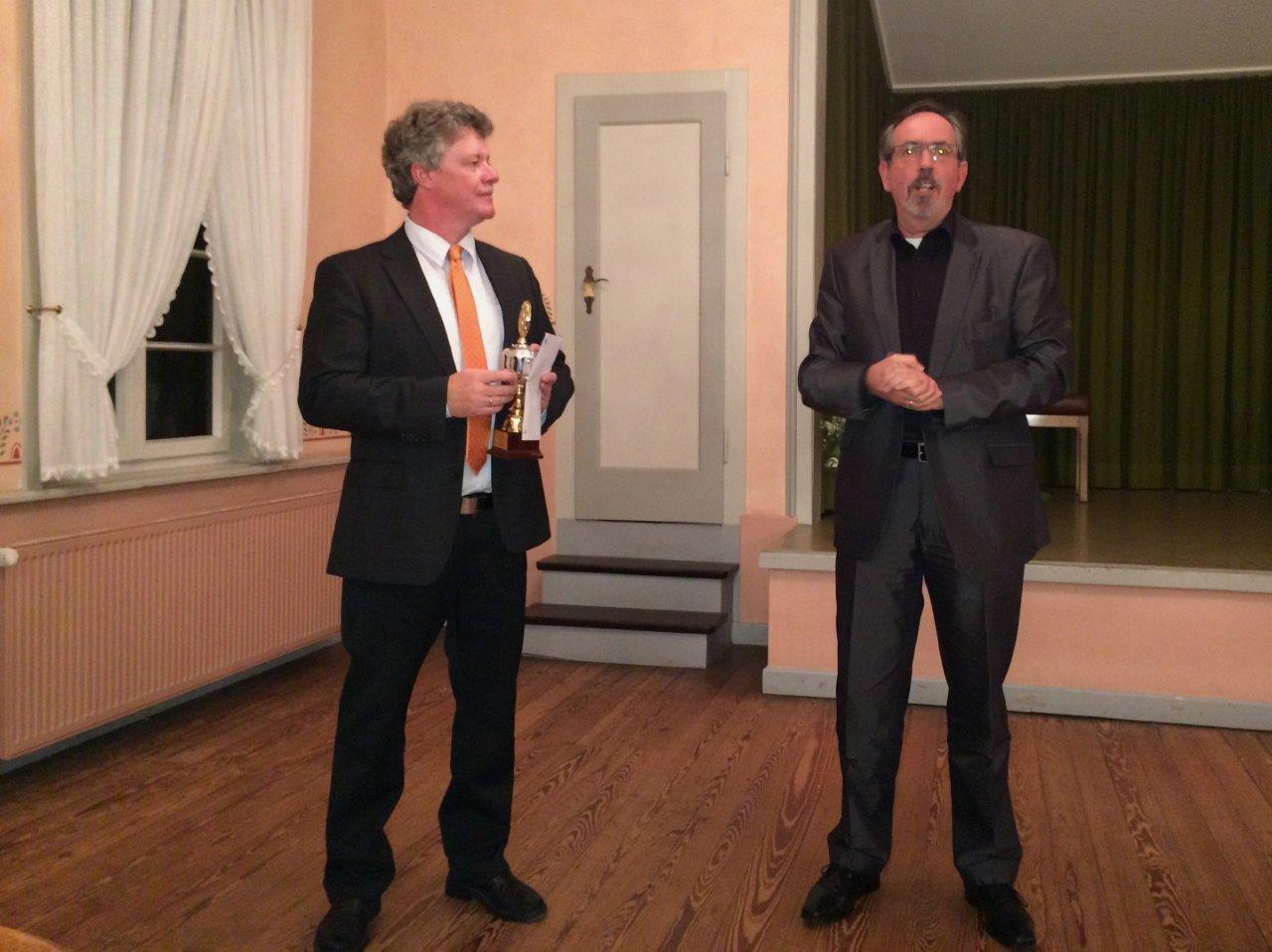 Freundschafltiche Glückwunsche von Jürgen an Detlef Wedi